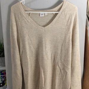Gap cream vneck sweater